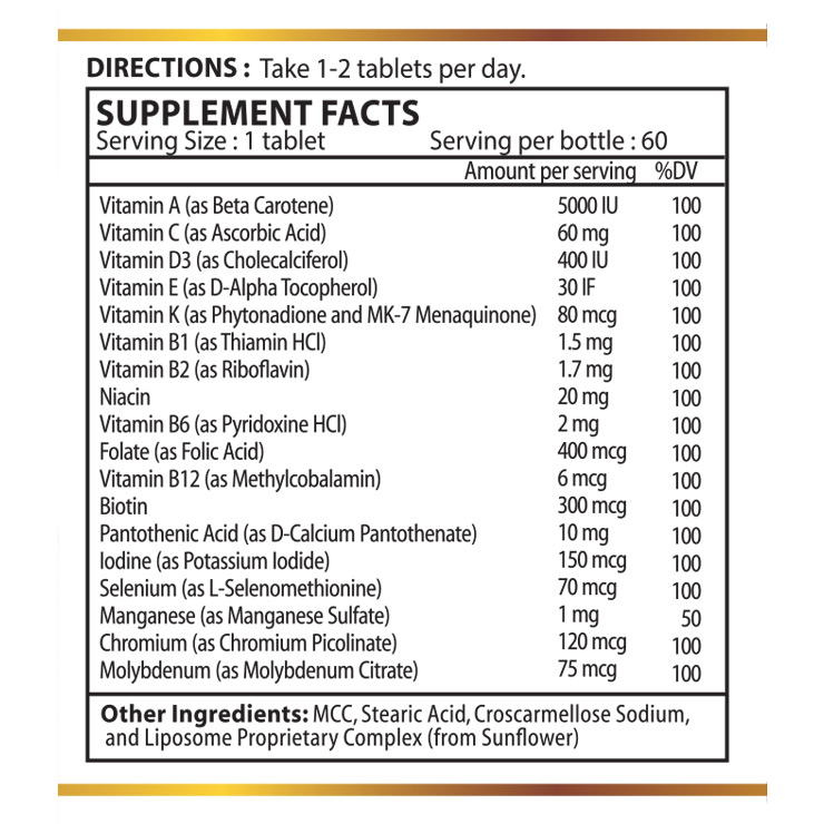 Liposomal Multi Vitamin & Mineral